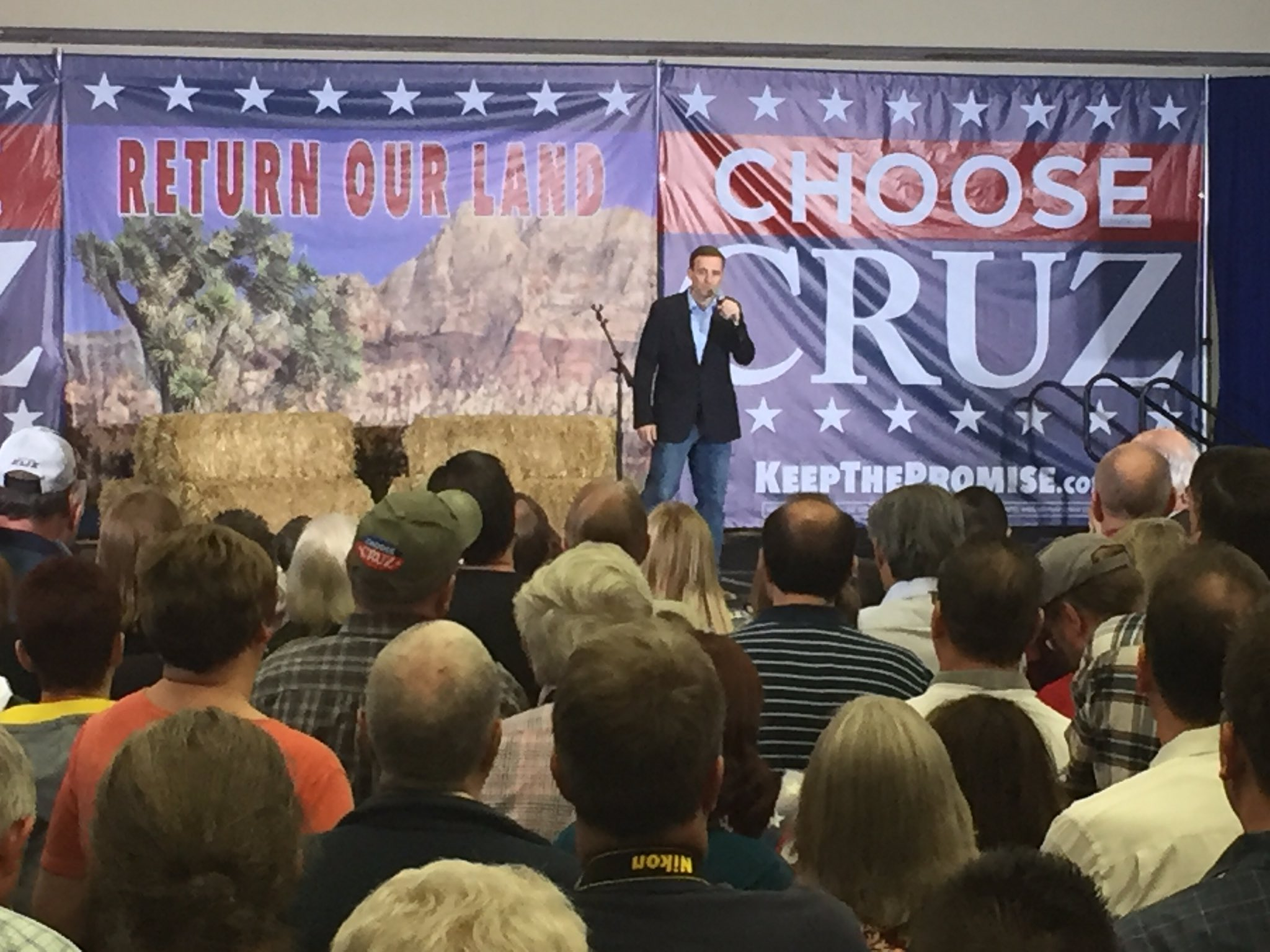 Adam Laxalt, explaining why he endorsed Ted Cruz to a crowd of hundreds in Henderson (Nathan O'Neal | KSNV News 3)