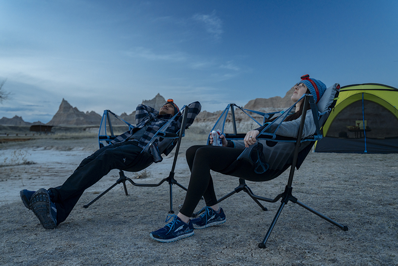 "The Nemo Stargaze Recliner Luxury is a swinging camp chair that allows you to recline by simply leaning back to activate an auto-reclining mechanism. It's designed for use on a variety of surfaces, including rocky, sandy, or uneven ground. /{&nbsp;}<a  href=""https://www.nemoequipment.com/"" target=""_blank"" title=""https://www.nemoequipment.com/"">Website{&nbsp;}</a>/ Price: $219.95 / Image courtesy of Nemo // Published: 12.6.20"