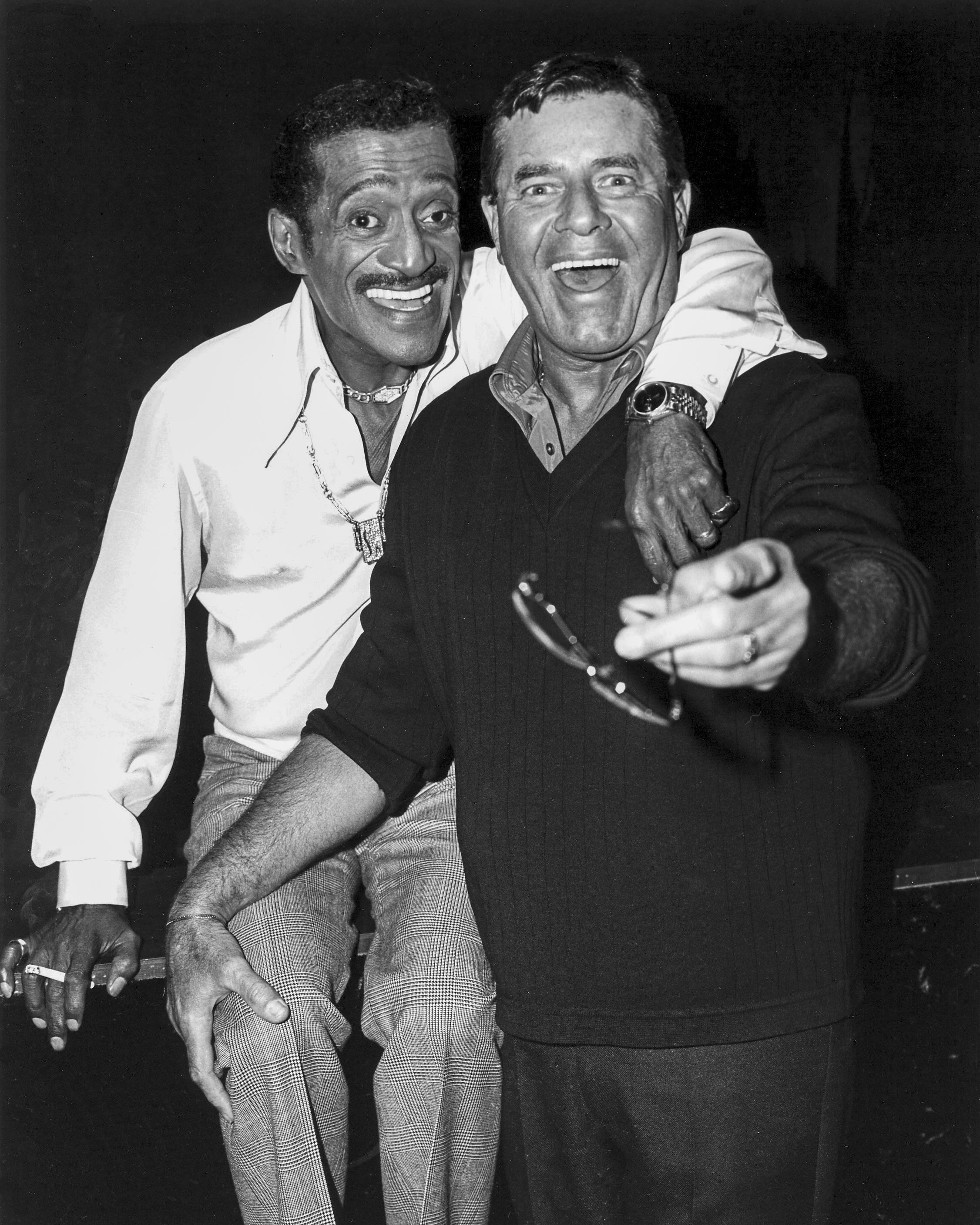5/19/1986  Jerry Lewis and Sammy Davis Jr at the Desert Inn. CREDIT: Las Vegas News Bureau