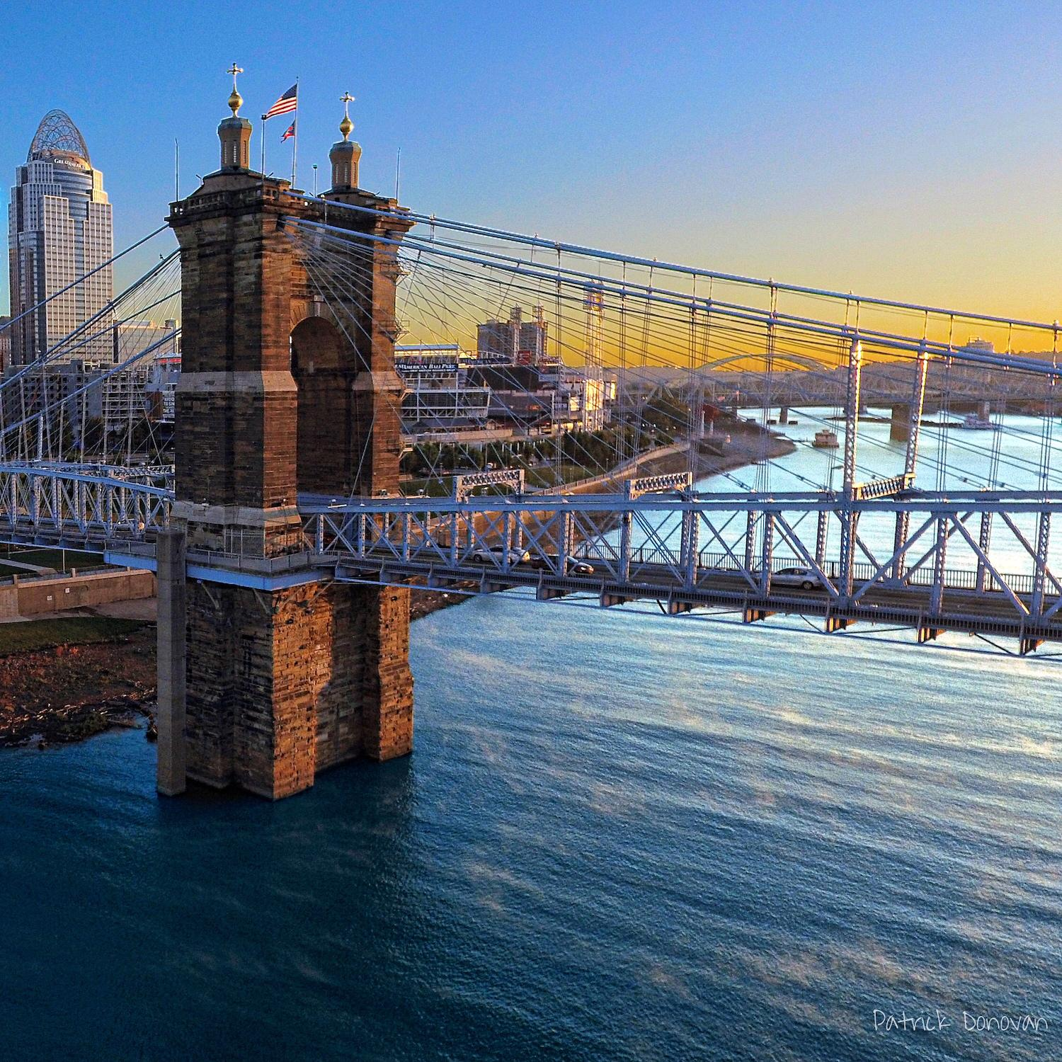 Patrick Donovan (known on Instagram as @_thatdroneguy) captures beautiful images of Cincinnati, among other things, on his DJI Phantom 4 Pro drone camera. / Image: Patrick Donovan // Published: 1.13.18