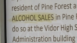 Alcohol on May ballot in Pine Forest