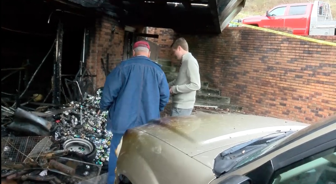 Sullivan County Sheriff's deputies are investigating a house fire in Blountville,{&amp;nbsp;}Tennessee after renters set up a moonshine still in the basement without the owner's knowledge. (Photo credit: WCYB)<p></p>