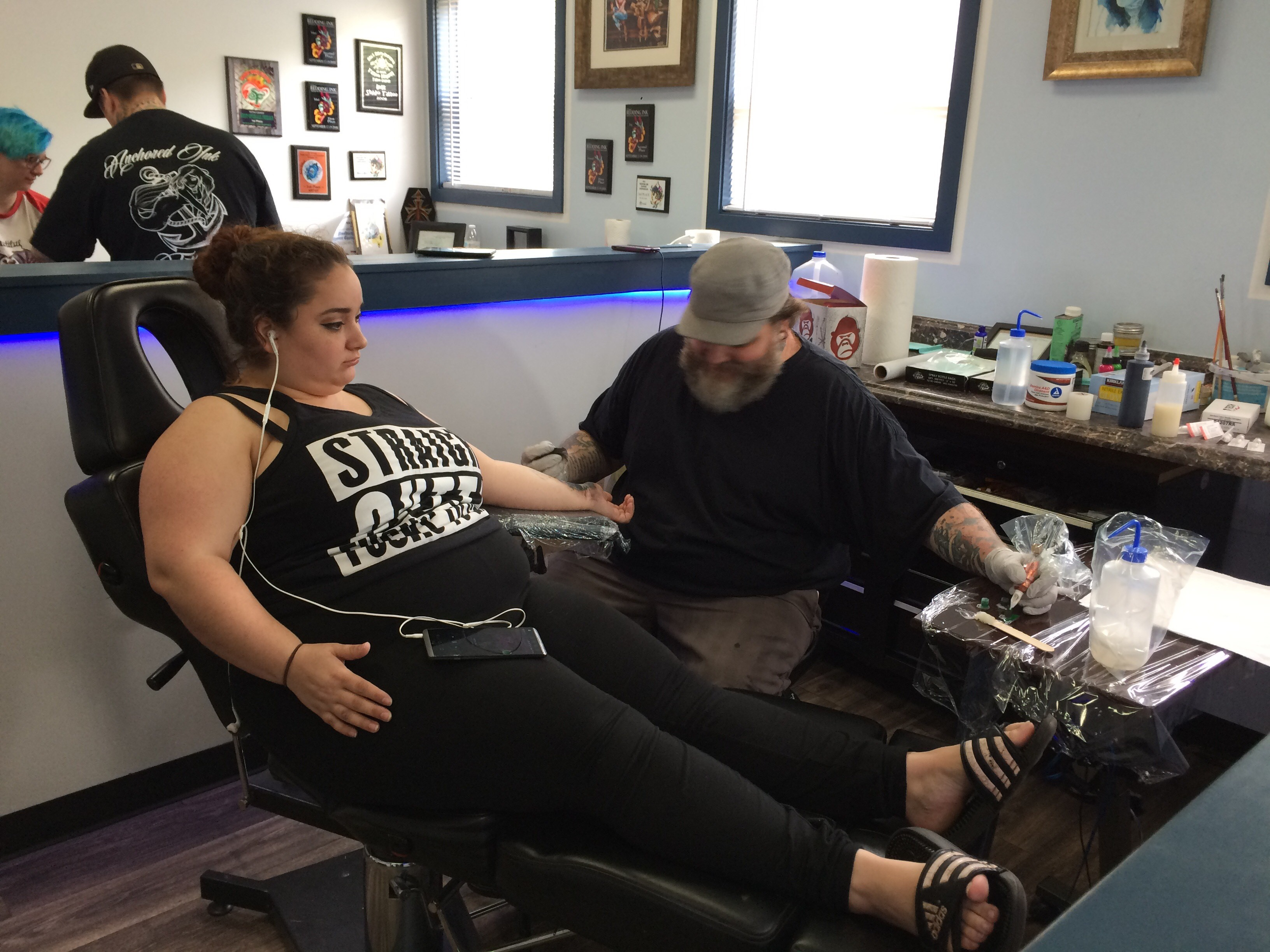 McKayla Figueroa getting a tattoo for a cause. (SBG Photo)