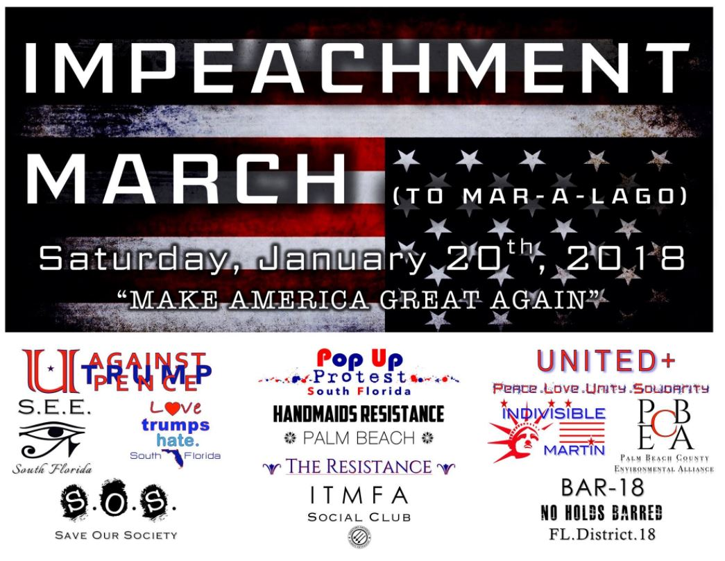 Inaugural Impeachment March to Mar-A Lago. (UATP)