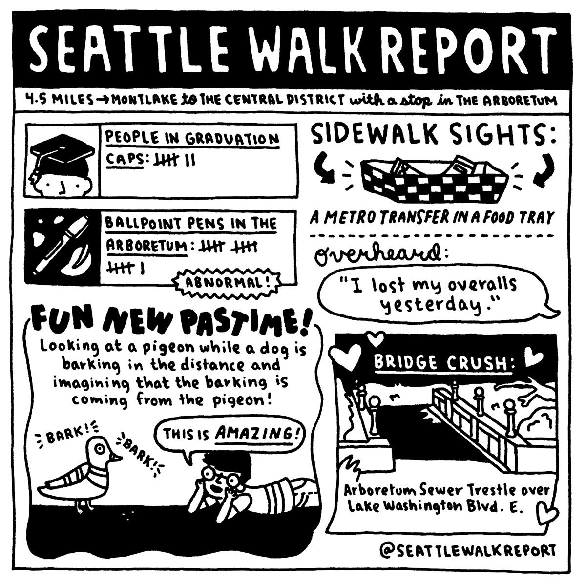 Montlake to the Central District. (Image: @seattlewalkreport / seattlerefined.com/seattlewalkreport)