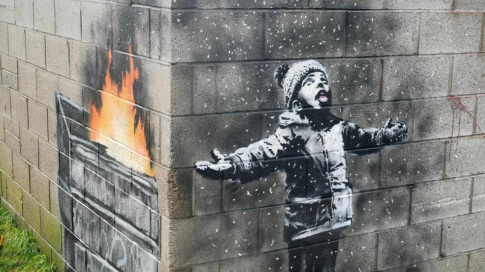 Banksy's mural sold on a garage in Wales, but will remain in place - Alabama's News Leader