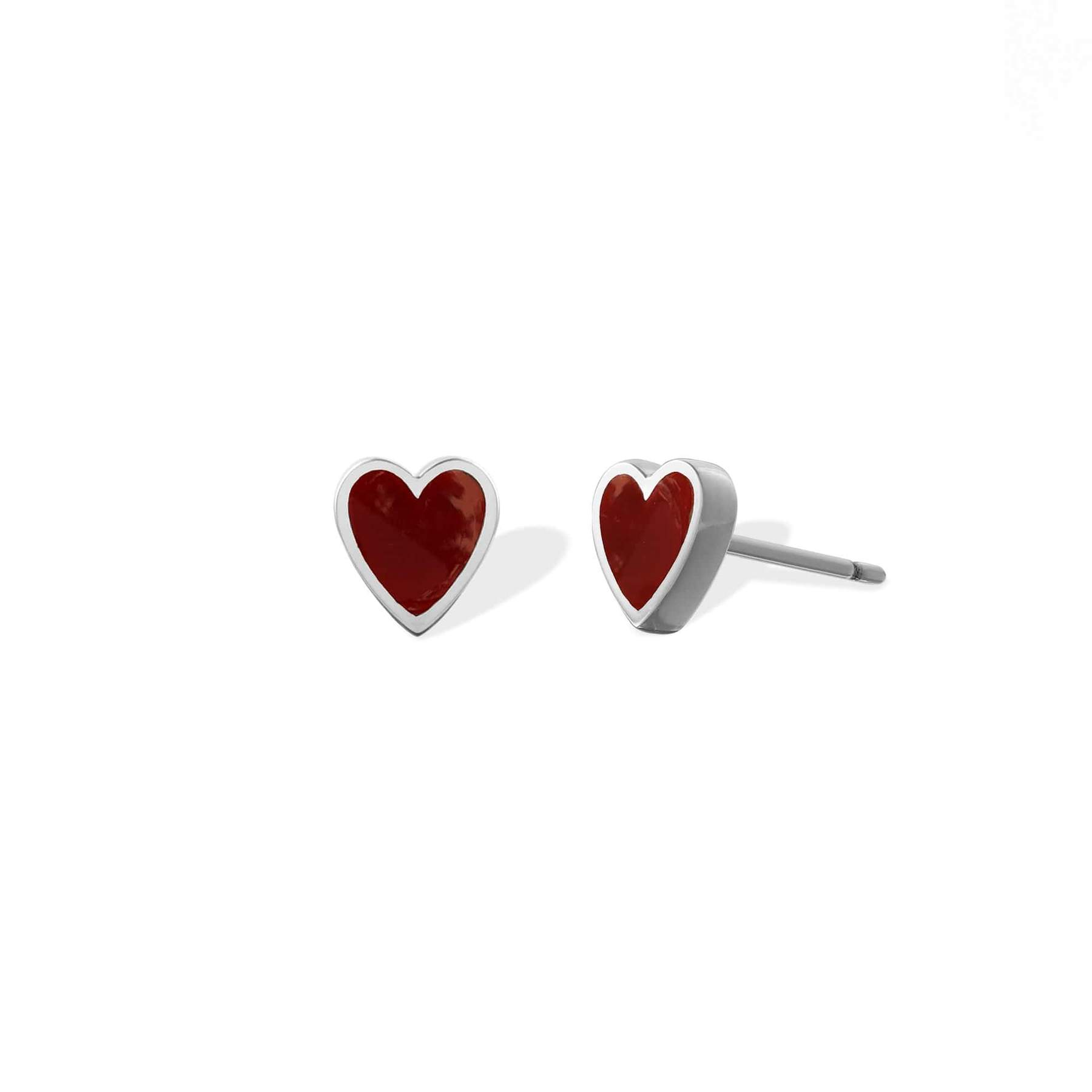 These Heart Studs are a customer fave. (Image: Boma Jewelry)