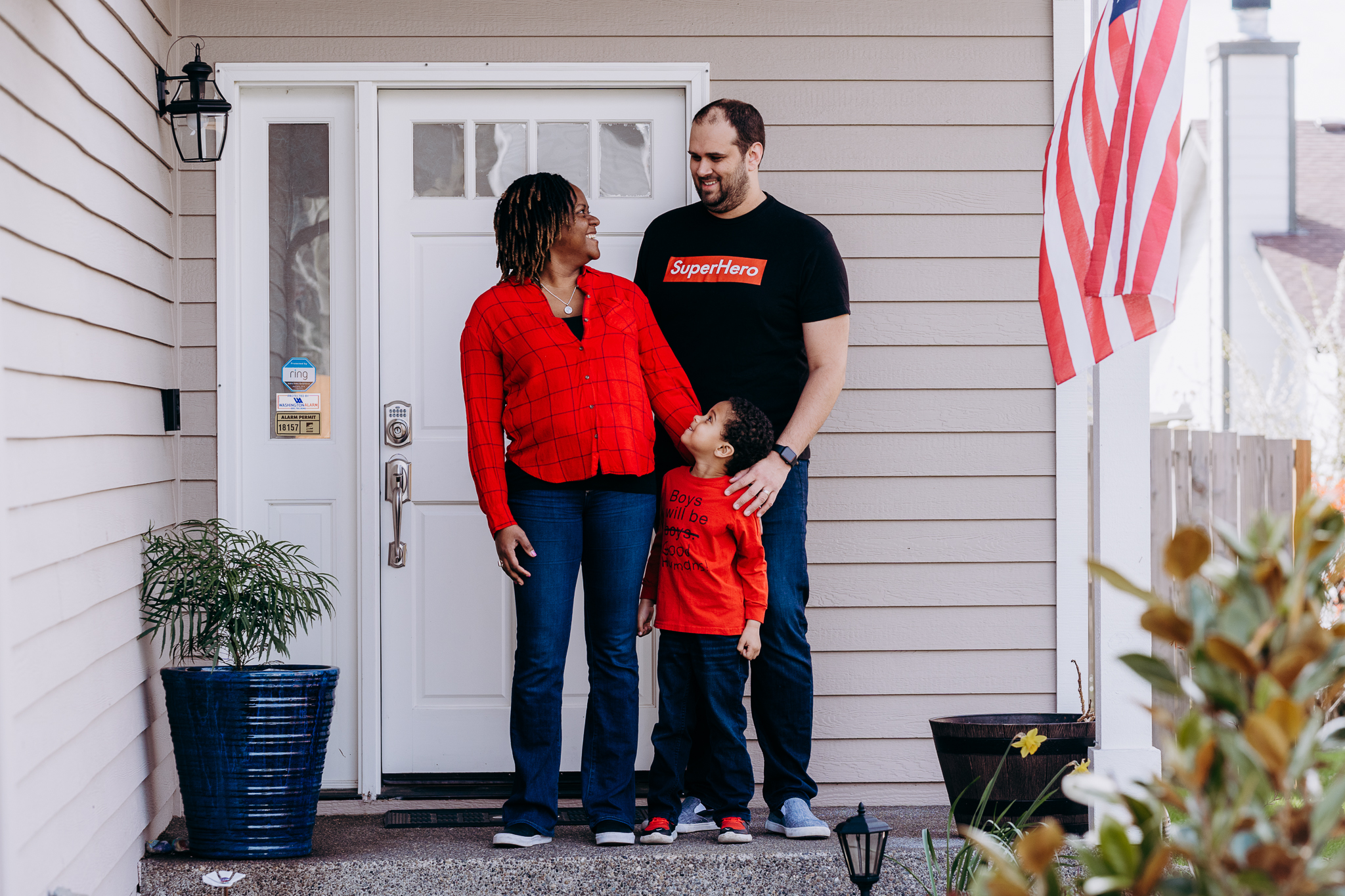 Through the Front Steps Project, Senad Tiric  of Tacoma is snapping and sharing photos of folks in front of their homes, with goals of connecting them - and raising money for charity. (Photo: Sky Orca Photography)