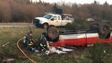 State Patrol: Stolen truck and trailer with excavator overturn on SR 16 near Port Orchard