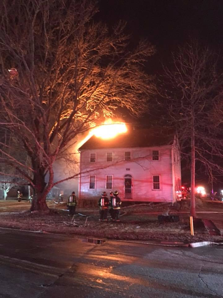 Two alarm fire heavily damages Rehoboth farmhouse (Rehoboth Fire Department)