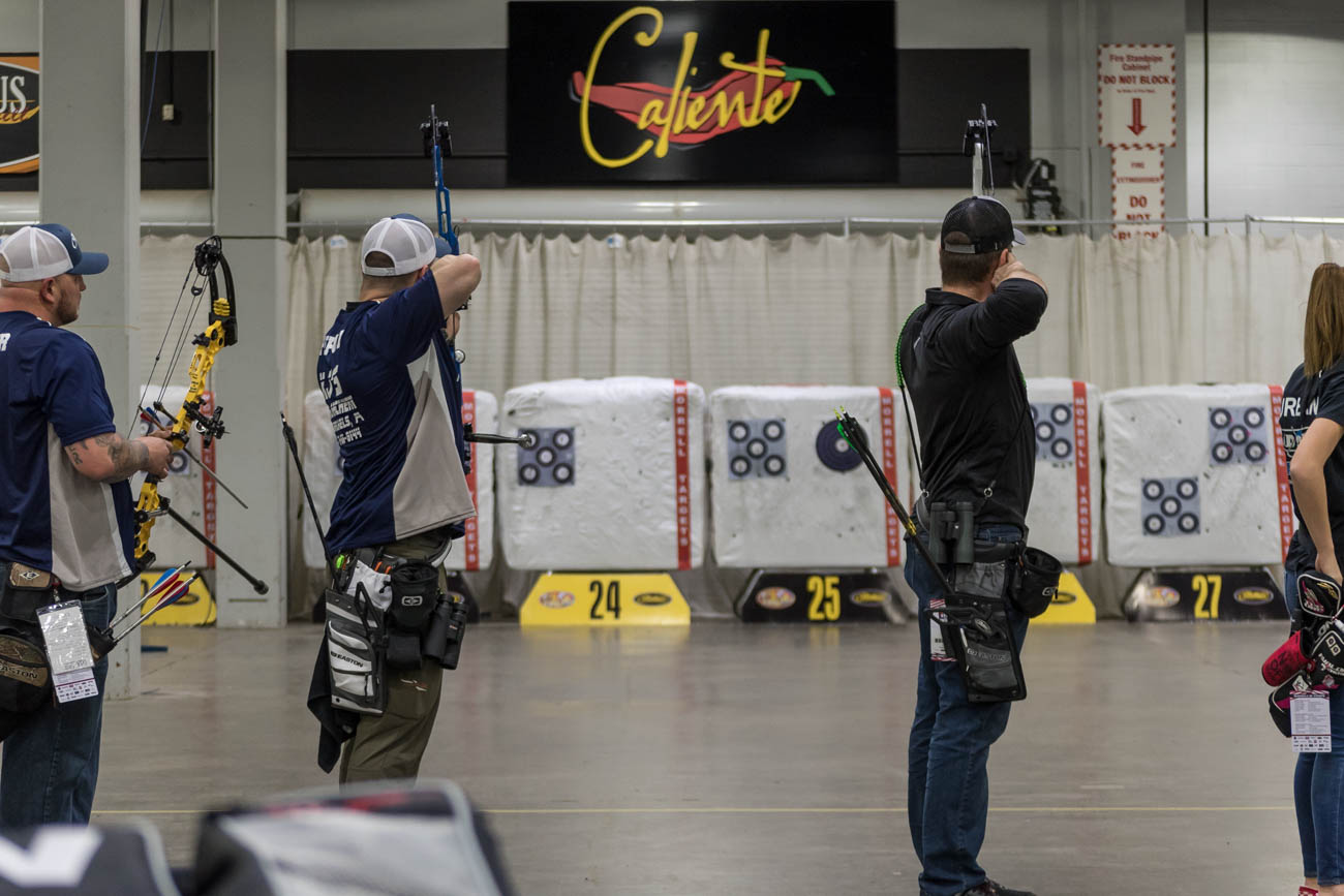 The National Field Archery Association (NFAA) presented the second phase of their 19th Annual 3 Star Tour of the NFAA Indoor Nationals at the Duke Energy Convention Center the weekend of March 15-17, 2019. NFAA and USA Archery members vied for the top spot, shooting the NFAA single-spot or five-spot (based on the archer's preference) blue and white face target. / Image: Mike Menke // Published: 3.18.19 <p></p>