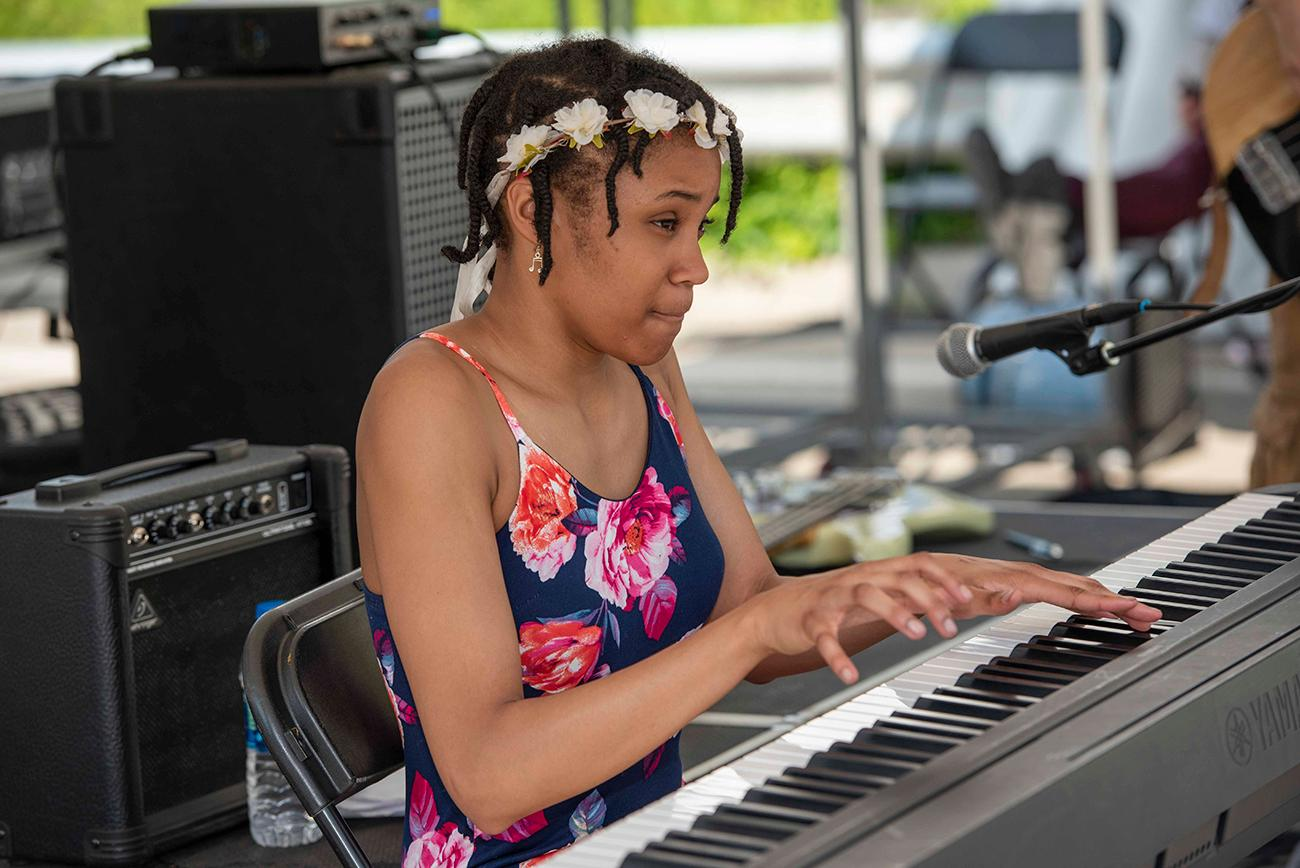Adanya Lin Stephens on the Findlay Market Stage / Image: Joe Simon // Published: 5.26.19