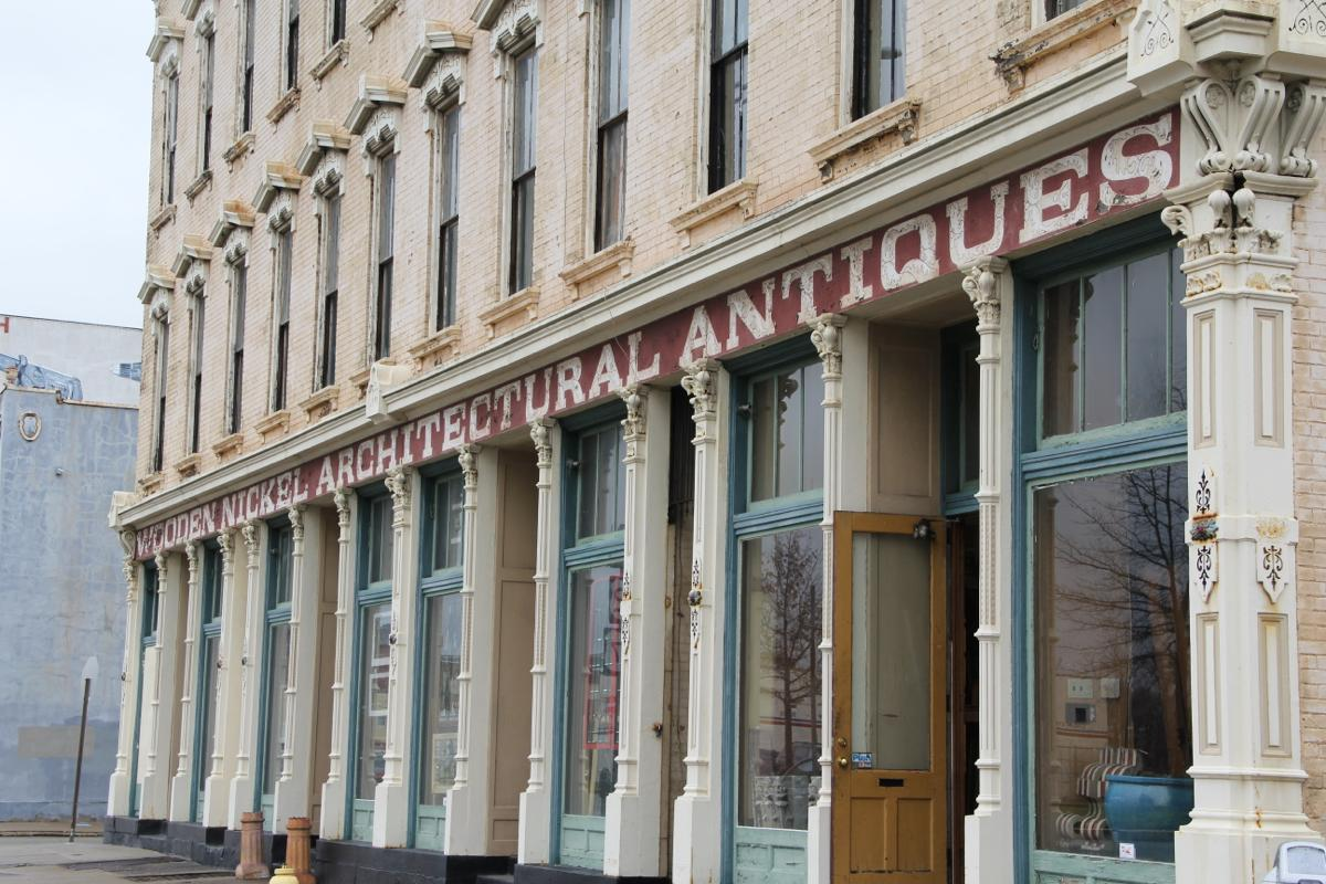 "Wooden Nickel Antiques is located at 1410 Central Parkway -- Rocking the architectural antique scene since 1976, Wooden Nickel specializes in a variety of styles, eras, and furniture genres. Because its real focus is on ""WOW."""
