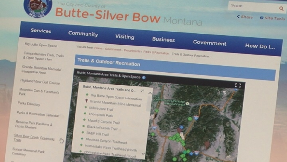 ButteSilver Bow adds interactive trail map to county website KECI