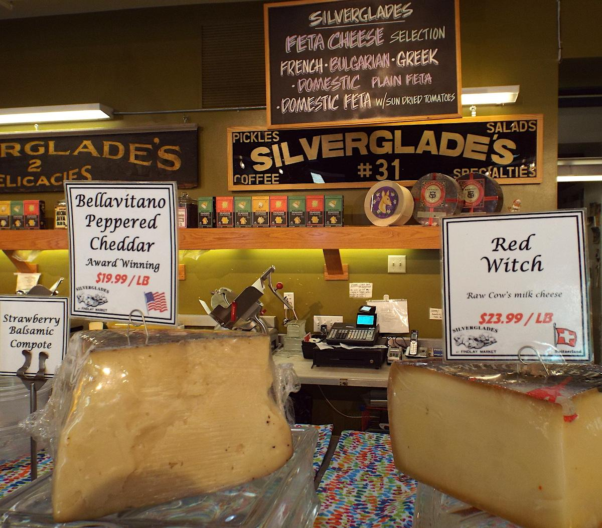 For 15 years, Downtowners have enjoyed lunch at Silverglades Deli. But for nearly a century, the Silverglade family has served a unique variety of over 200 cheeses, lunch meats, charcuterie boards, and tradition to the people of Cincinnati. Silverglades has two locations: one on East 8th Street Downtown, and another in Findlay Market. ADDRESS: 236 East 8th Street (45202) / Image: Jessie Stringfield-Eden // Published: 9.8.18<br>