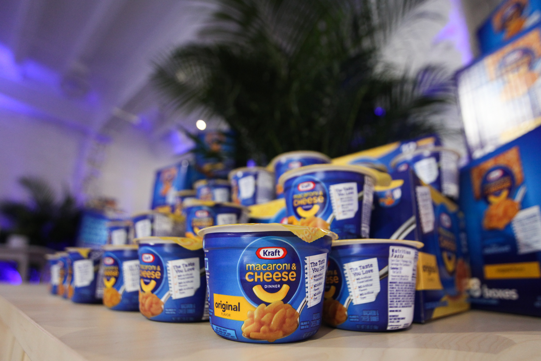 A pop-up store filled with Kraft products such as mac and cheese, bags of cheese, slices of cheese, salad dressings, mayo and BBQ sauce will be open in D.C. January 16-20. (Amanda Andrade-Rhoades/DC Refined)