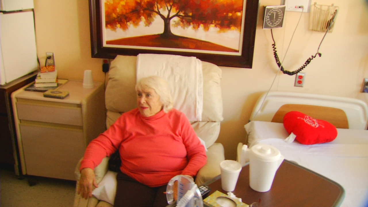 Rebecca Mack, 79, is making good progress considering she just had a knee replacement AND heart bypass surgery. Still, during recovery, she has come to a swing-bed unit for rehabilitation at Swain Community Hospital rather than a nursing home or staying with relatives. (Photo credit: WLOS staff)