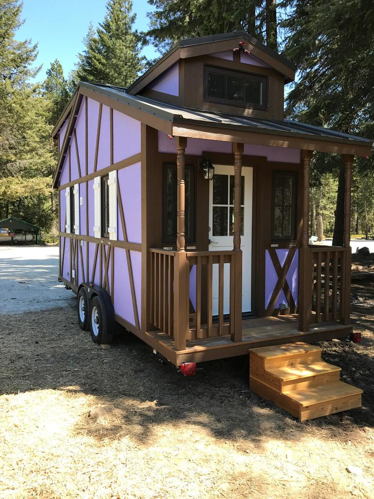 "If you've ever wanted to experience staying in a tiny house, now is the time! A new tiny house retreat is opening Saturday, June 24th at Thousand Trails Leavenworth RV Campground. ""Petite Retreats"" is a Tiny House Village in Leavenworth, WA., and is surrounded by seven miles of hiking trails, is near forests and meadows, and located by Alpine Trout Lake and Otter Pond. Each tiny home has a Bavarian theme and are named, ""Adeline,"" ""Belle,"" ""Hanna,"" ""Otto"" and ""Rudolf."" The Grand Opening tour will happen on June 24th and attendees can enter for a chance to win a week stay in a tiny home and explore the campgrounds amenities! Amenities include a swimming pool, playground, lakes, hiking trails, and more. (Image courtesy of Petite Retreats)"
