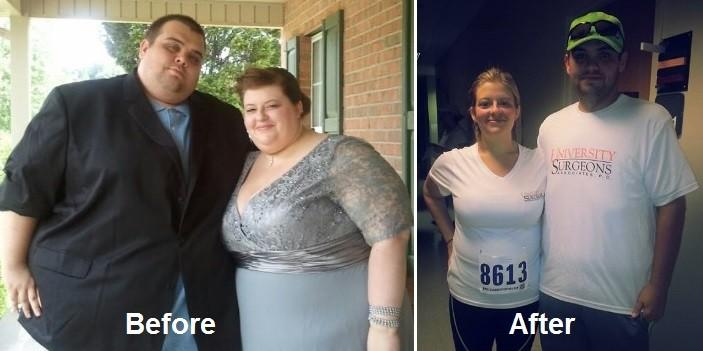 Justin and Lauren Shelton were motivated by medical emergencies to drop some weight. The end total: 538 lbs.