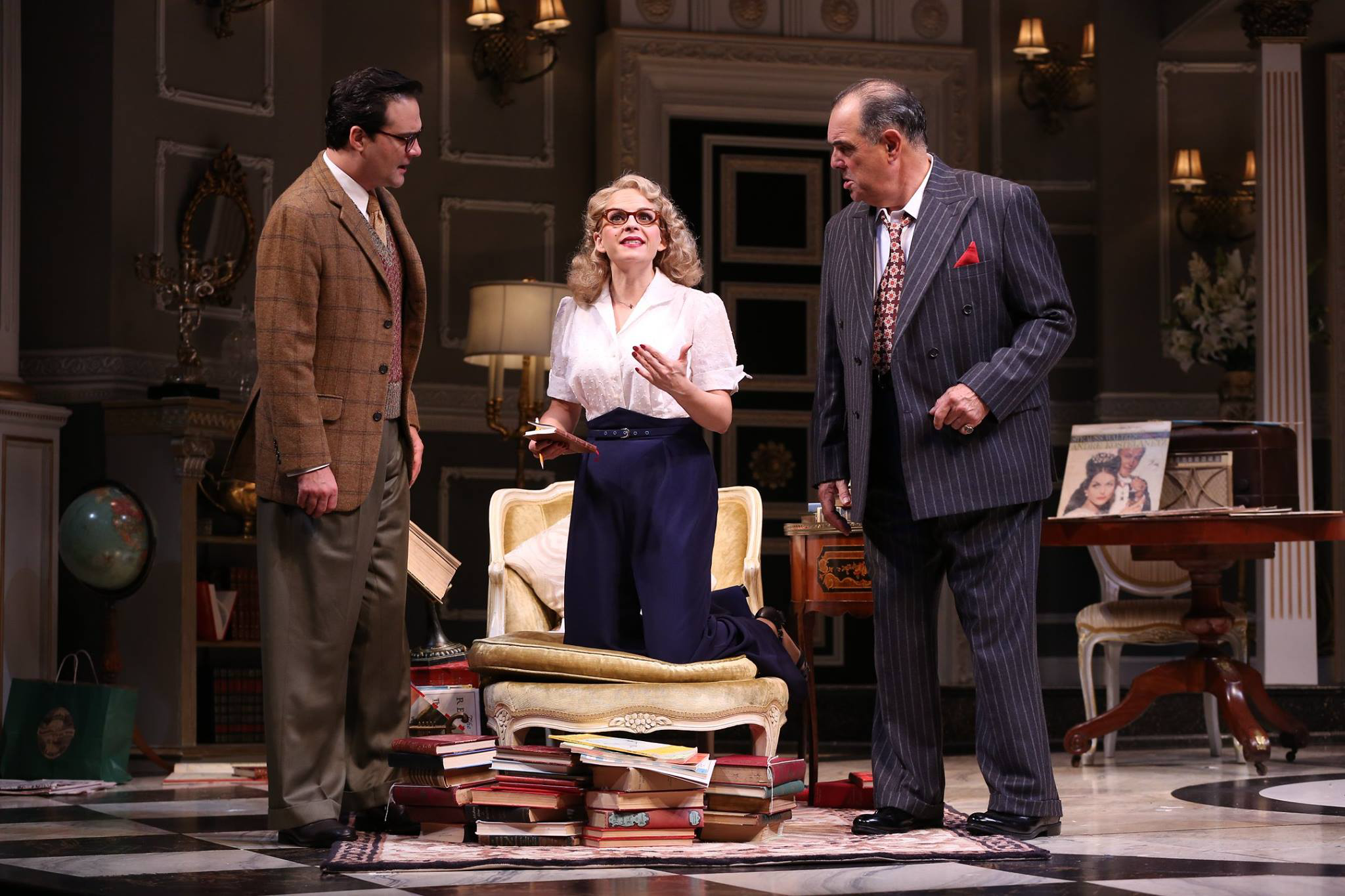 Cody Nikell, Kimberly Gilbert and Edward Gero in Ford Theatre's BORN YESTERDAY. (Image: Carol Rosegg)