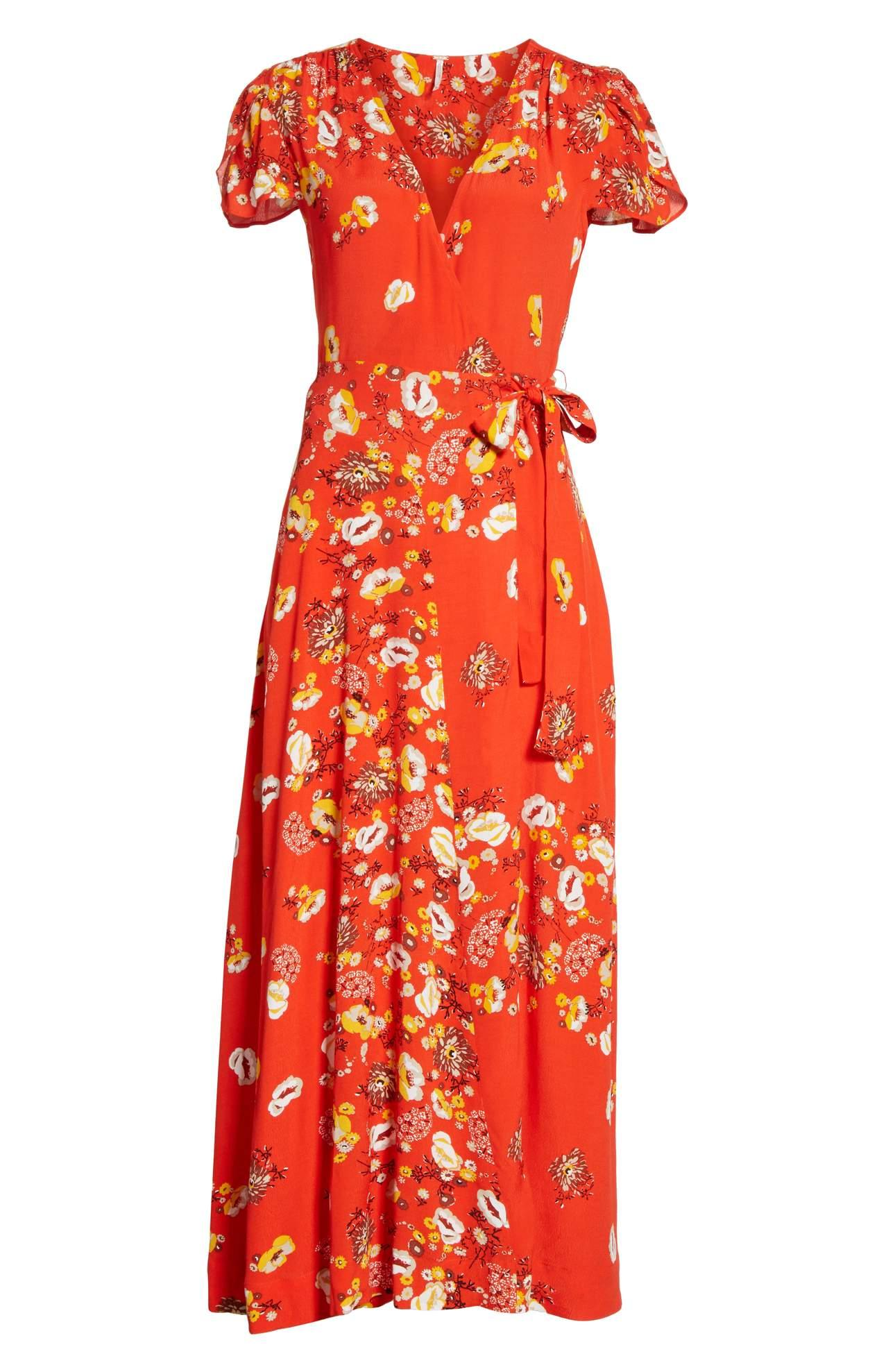 <p>Check out this gorgeous Jess Wrap Maxi Dress/FREE PEOPLE. Wrapped at the waist and tied with a sweet little bow, this ankle-grazing dress will add floral charm to your warm-weather wardrobe. $148.00 at Nordstrom. (Image: Nordstrom){&nbsp;}</p><p></p>
