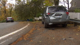 Driver leaves trail of damage behind in West Seattle after double hit & run
