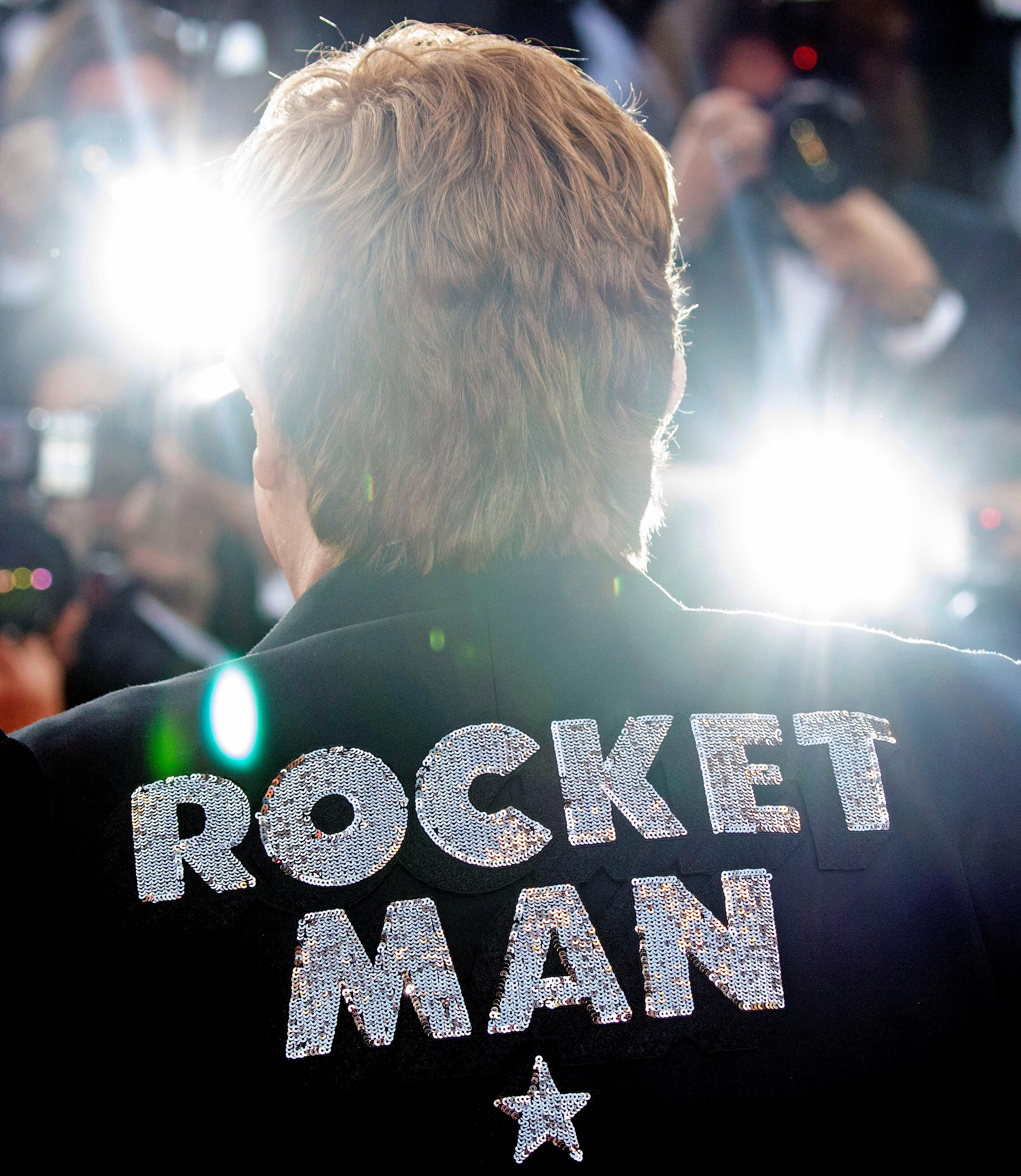 Musician Elton John poses for photographers upon his arrival at the premiere of the film 'Rocketman' at the 72nd international film festival, Cannes, southern France, Thursday, May 16, 2019. (Photo by Vianney Le Caer/Invision/AP)