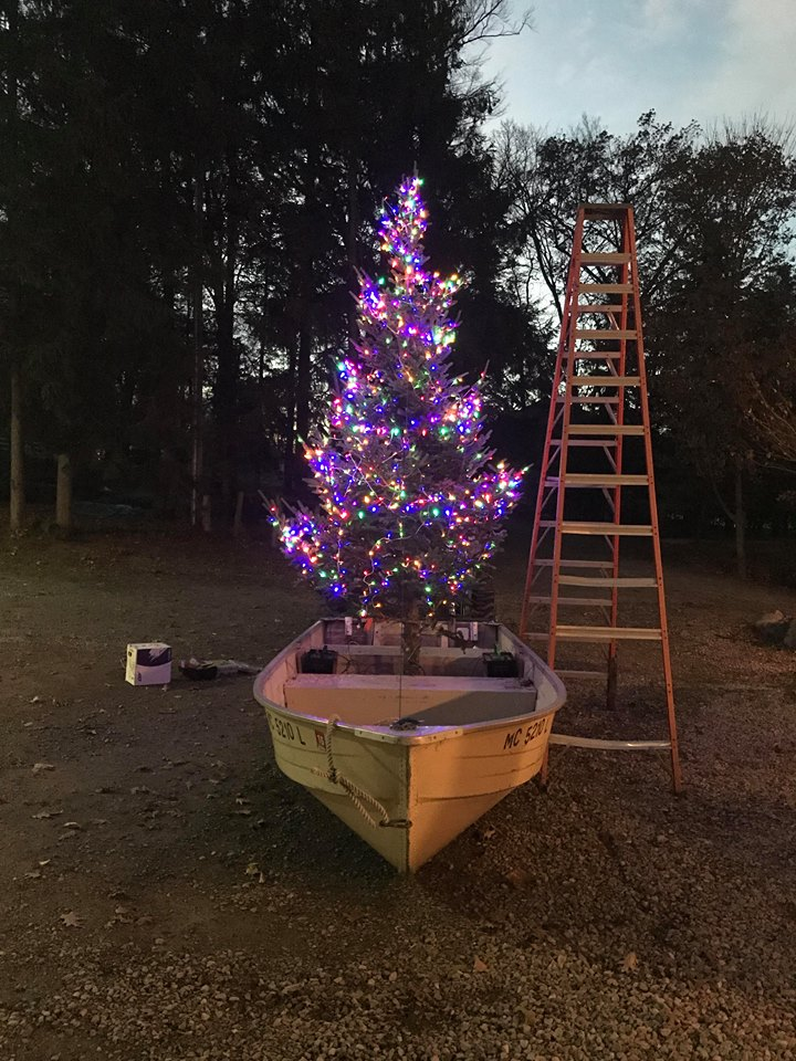 For the fourth year Glen Arbor resident, Frank Siepker Jr. has continued his family's holiday tradition of the Christmas tree boat that has become a staple in the community.
