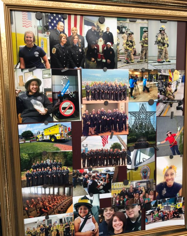 Family and friends remembered Kali Hurd, a Roanoke City firefighter and Emergency Responder. She passed on December 7 after a long battle with cancer.