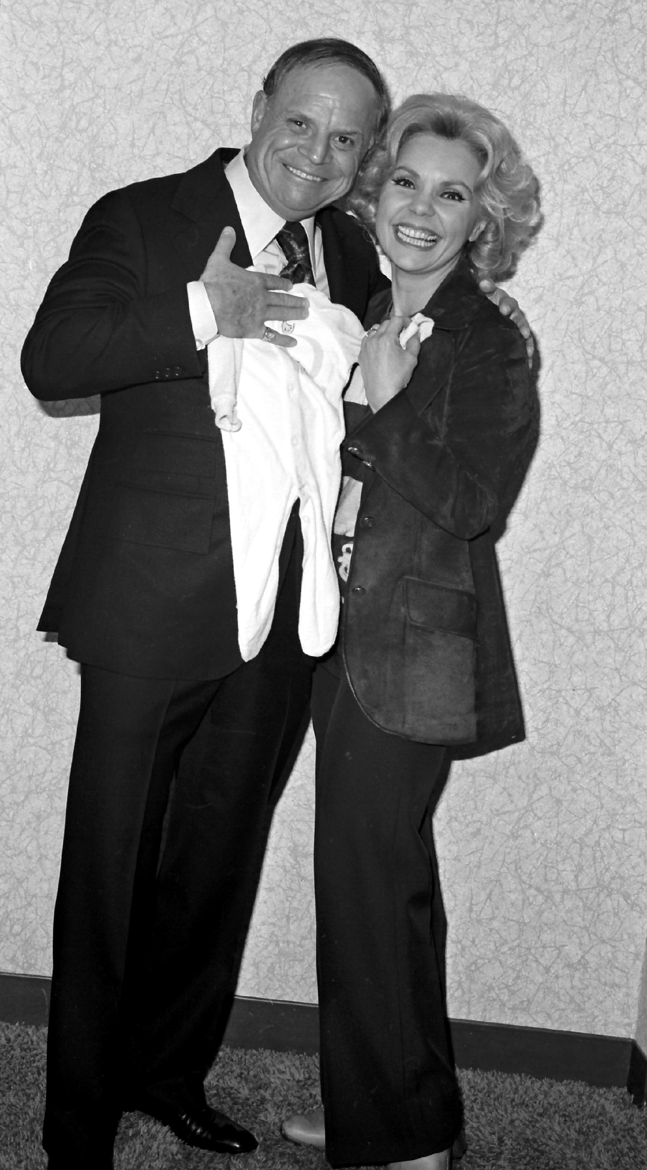 Don Rickles with Theresa Brewer at the Sahara on March 2, 1977. [Las Vegas News Bureau file photo]