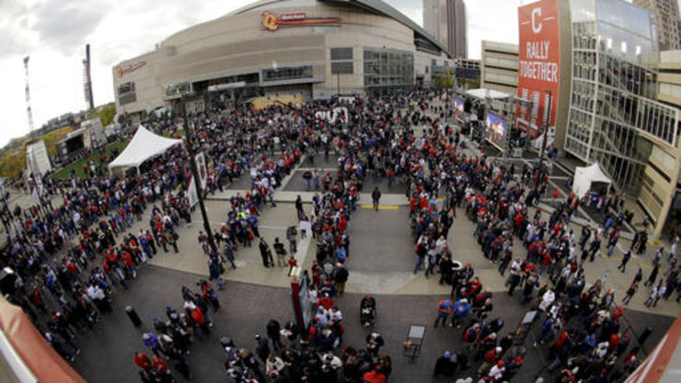 Progressive Field and Quicken Loans Arena AP.jpg
