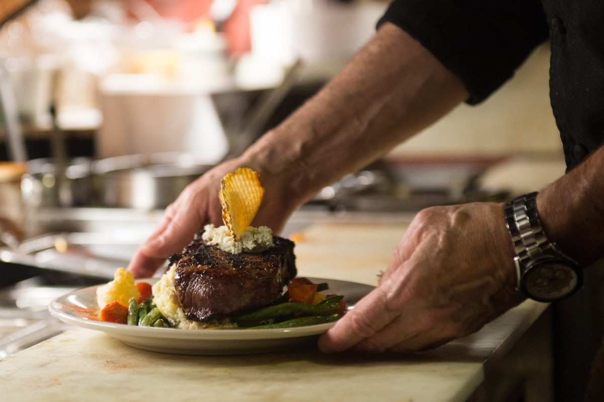 Chef Lalewicz in action. We can't recommend reserving a spot at the chef's table enough. You know what they say-- you eat with your eyes first. (Image: Chona Kasinger / Seattle Refined)