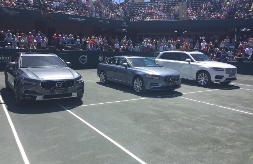 Daria Kasatkina, as winner of the tournament, will get a free Volvo for a year. (WCIV)