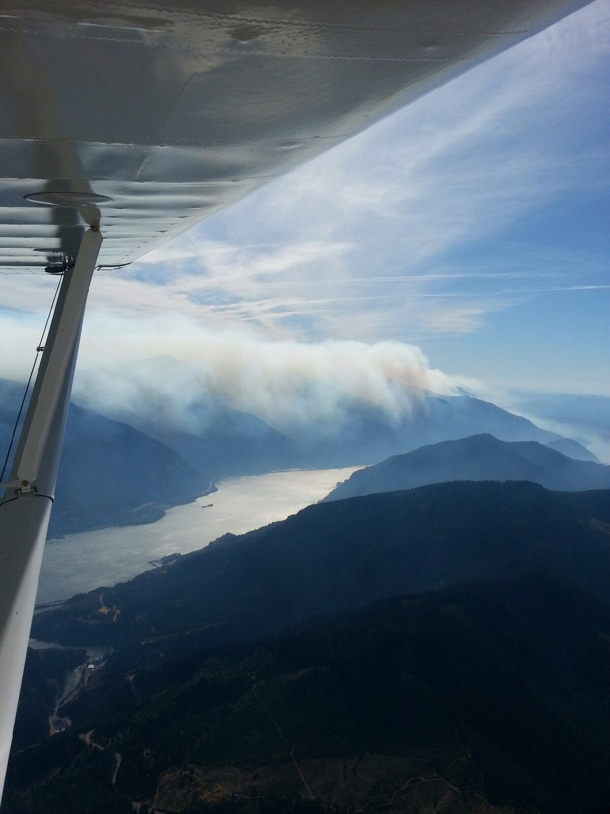 The Hood River County Sheriff's Office took these photos of the Eagle Creek Fire from an airplane on Sept. 12, 2017.