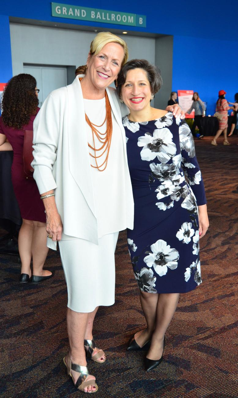 Barbara Perez (President of the YWCA) and Wijdan Jreisat, honoree / Image: Leah Zipperstein, Cincinnati Refined // Published: 5.10.18