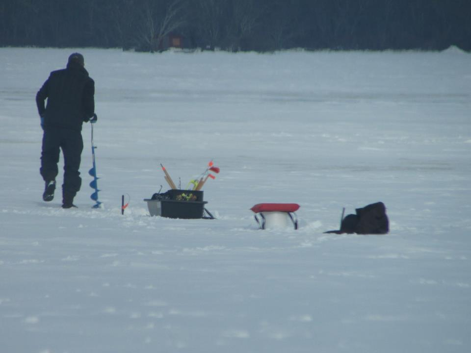 Ice fishing on Worden's Pond Tuesday, taken by Bradford Sherman