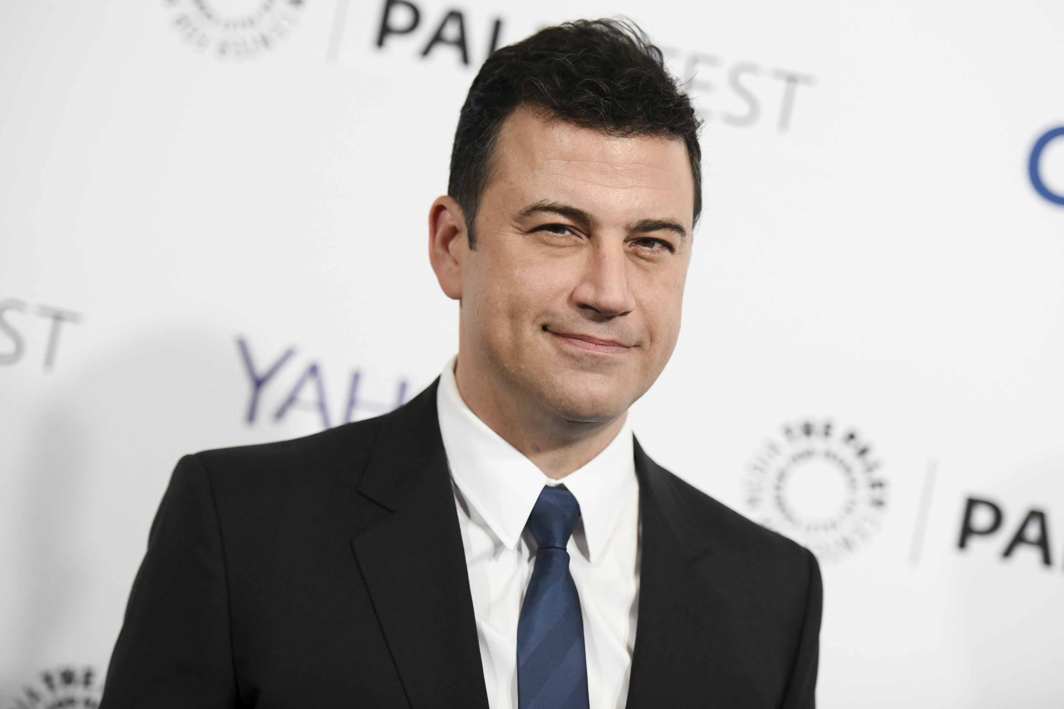 "FILE - In this March 8, 2015, file photo, Jimmy Kimmel arrives at the 32nd Annual Paleyfest : ""Scandal"" held at The Dolby Theatre in Los Angeles. Kimmel said on Sept. 19, 2017, that Republican Sen. Bill Cassidy ""lied right to my face"" by going back on his word to ensure any health care overhaul passes a test the Republican lawmaker named for the late night host.   (Photo by Richard Shotwell/Invision/AP, File)"