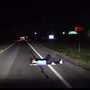 Woman arrested on public intoxication charge after falling asleep on roadway