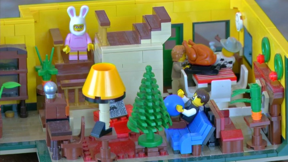 """Man meticulously builds """"A Christmas Story"""" house out of Legos 