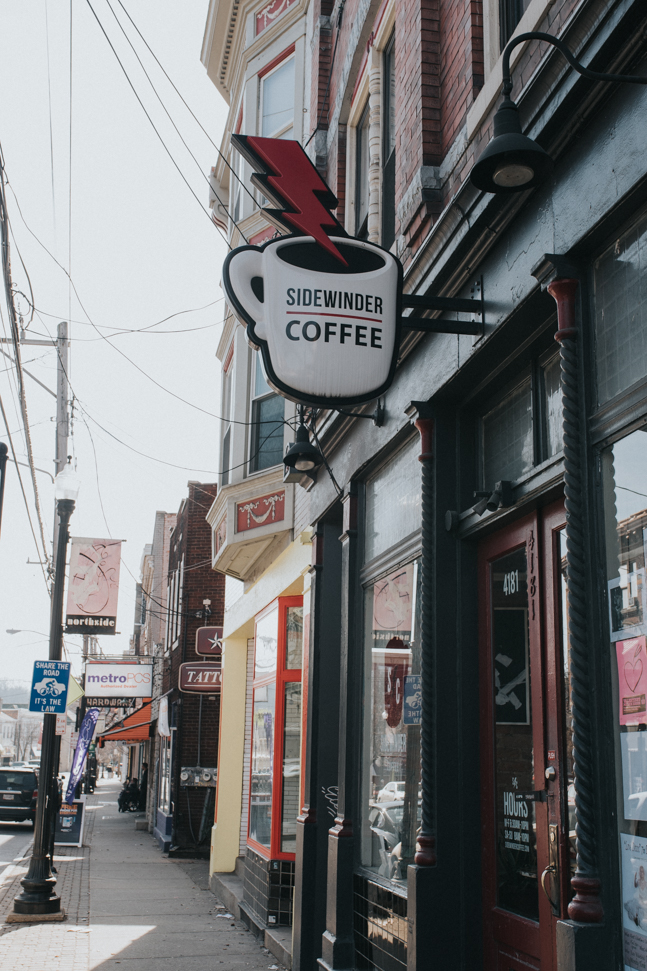 Sidewinder Coffee Parlor is located in the neighborhood of Northside. It is 13 mins (6.2 miles) from Downtown's Fountain Square. / Image: Brianna Long // Published: 3.17.17