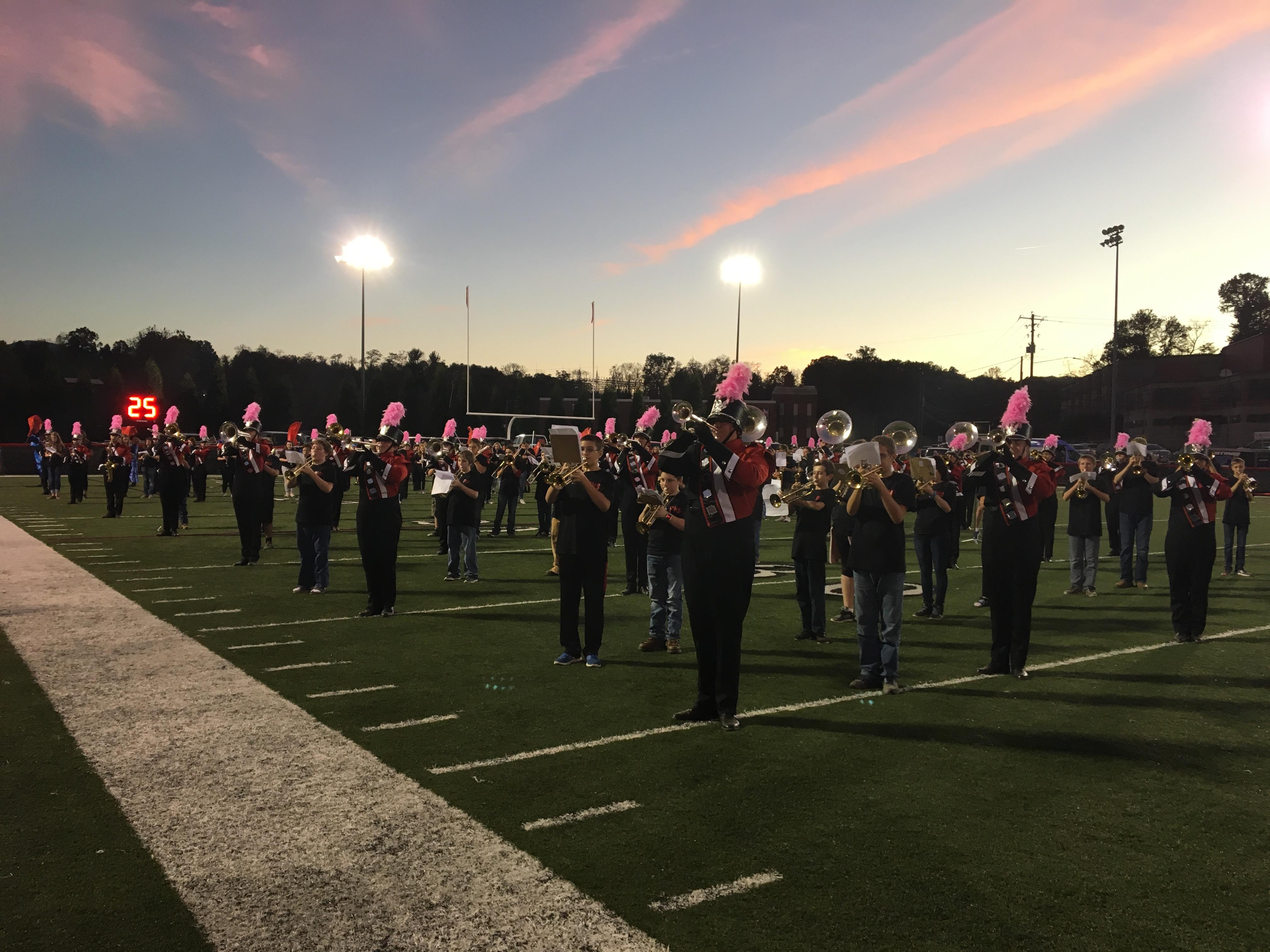 Smoky Mountain vs Pisgah, 10-06-2017 (Photo credit: WLOS Staff)