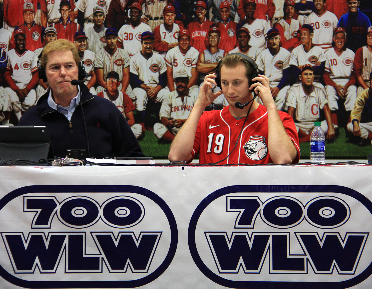 Ken Broo, local sportscaster (left)