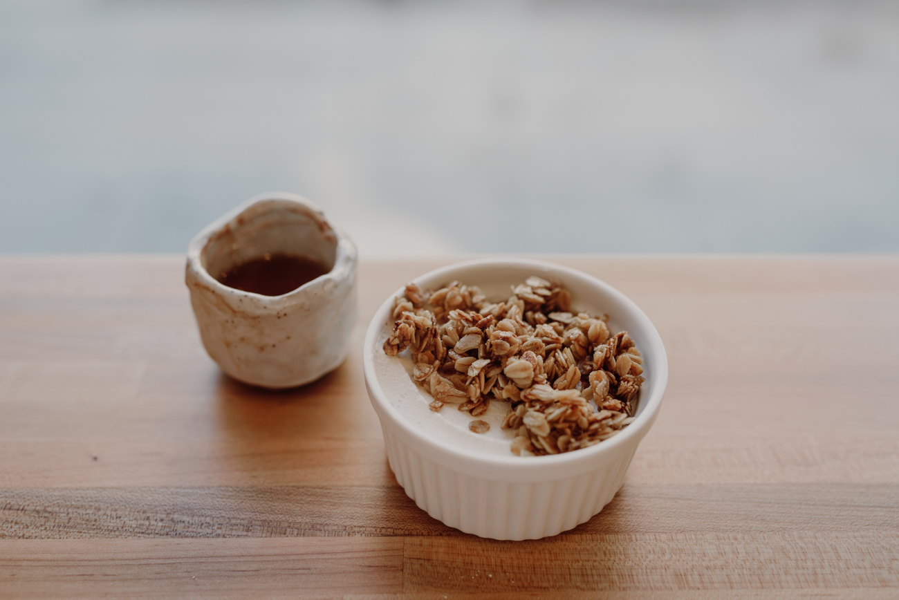 House-made granola with greek yogurt and honey / Image: Brianna Long // Published: 7.3.18