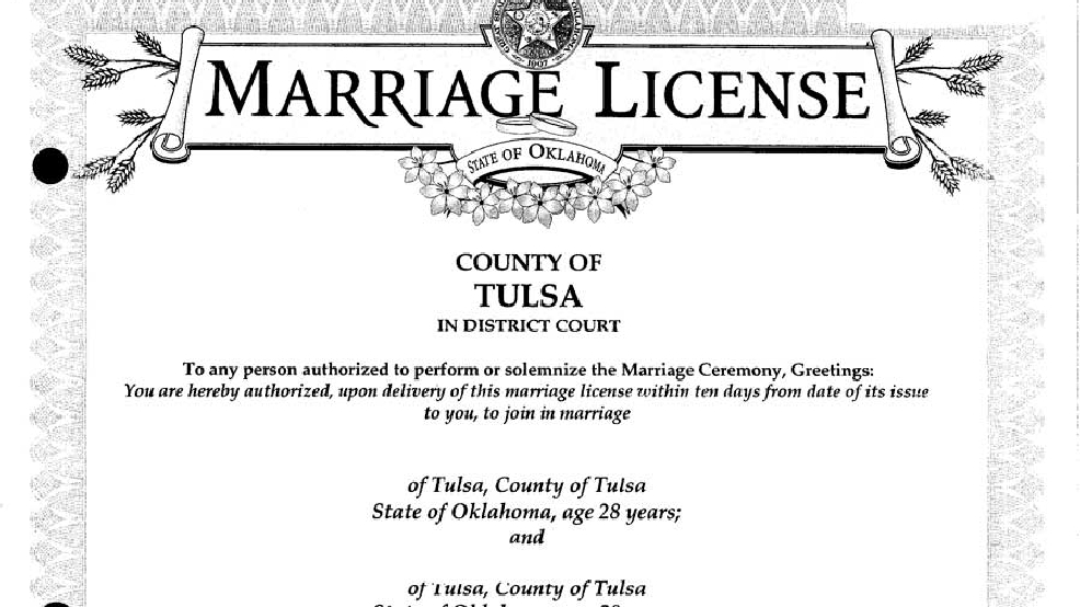 Lawmaker Wants State to Stop Issuing Marriage Licenses | KTUL