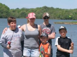 The Suttner family at a lake (Angela Suttner)