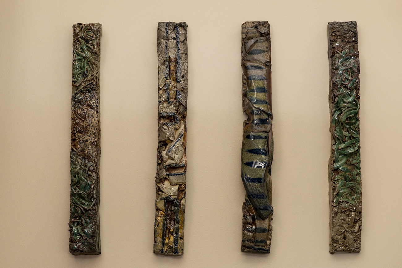 "A featured work by local artist Ben Clark entitled ""An Erosion Story"" made of fired stoneware and porcelain / Image: Joe Simon // Published: 3.2.21"