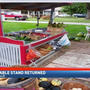 Stolen vegetable stand returned to owner