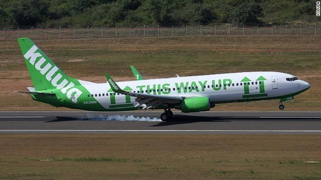 Among the South African budget airline Kulula's quirky liveries is the Flying 101, with arrows pointing out the plane's various parts, and a mustache-adorned plane rolled out to mark the Movember charity fund-raising drive.