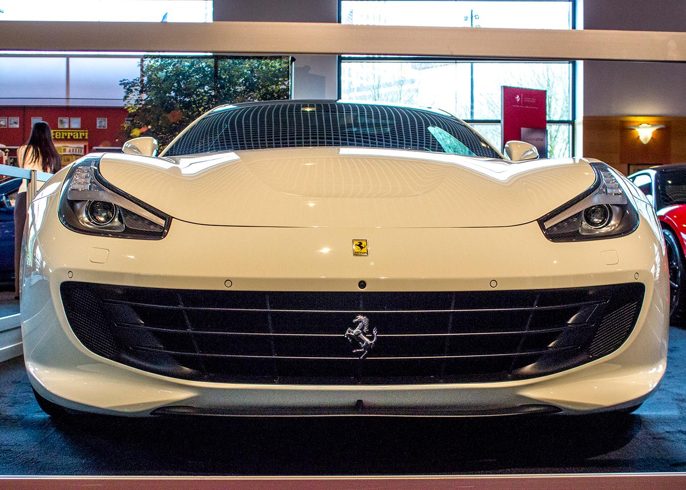 Ferrari GTC4Lusso -The Portland International Auto Show began at the Oregon Convention Center on Jan. 25, 2018. The event drew prospective buyers and others who enjoyed looking at and comparing vehicles. Photo by Amanda Butt