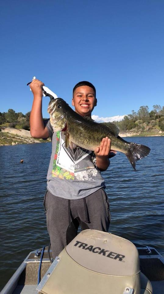 Javen with his 11.55 lbs bass! Courtesy:{ }Jesse Jimenez?